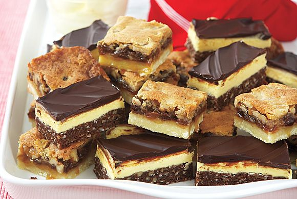 Why did they sully the Nanaimo bars by pairing them with lesser squares for this photo? (Not that I won't make them anyway.)