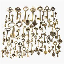 Neue Set von 70 antike Retro Vintage alten Look Bronze Schlüssel Phantasie Herz Bogen Anhänger Metall Handwerk DIY handgemachte Accessoires Sammlung(China (Mainland))