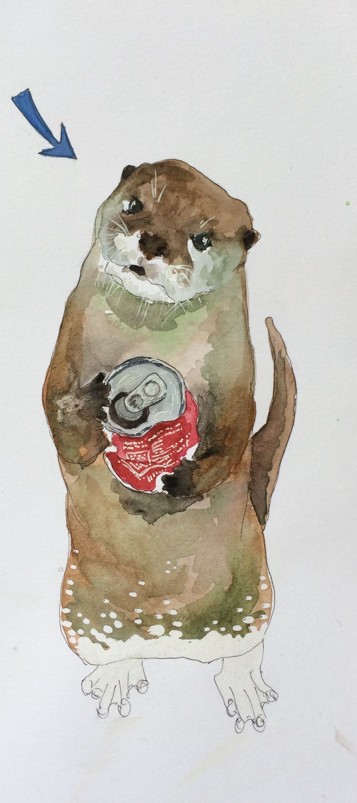 An otter and his addiction