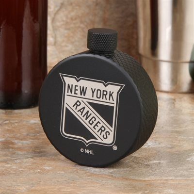 New York Rangers Hockey Puck Flask - Black For the best of times and the inevitable worst of times