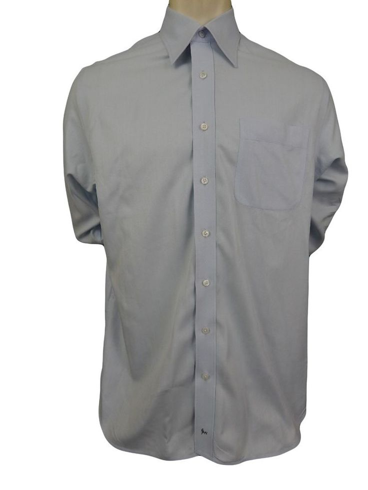 Nordstrom mens dress shirt size 16 35 wrinkle free for Mens egyptian cotton dress shirts