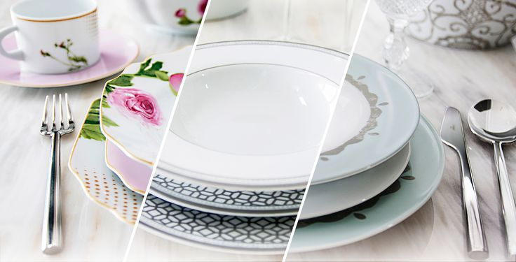 Three distinct Porcelain tableware collections that accent the décor of any table.  Manufactured in Portugal through a seven stage process. Safe to be used in microwave, dishwasher, oven and refrigerator.  Design by Green Apple HOME STYLE #dinnerware #limogespaste #portuguese #GAHomeStyle