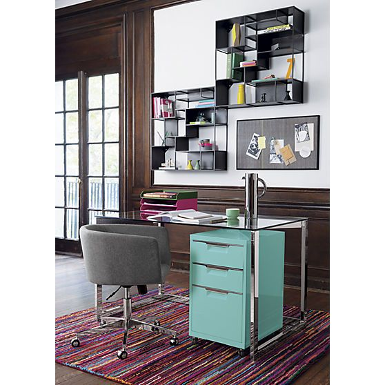 Home Office, Home Office Colors And Office Shelving