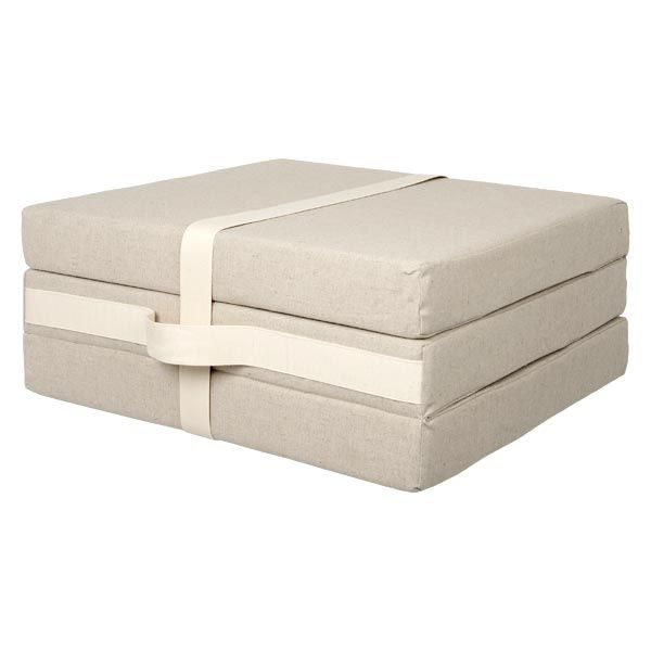 Muji  Foldaway Guest Mattress  Bed w67 x d189 x h9cm  Folds To w63 x d63 x h27cm