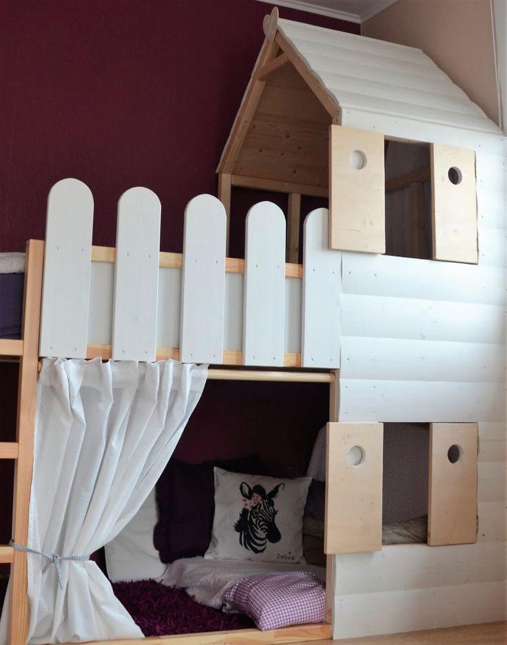 Hochbett + Spielhaus = Kinderzimmertraum