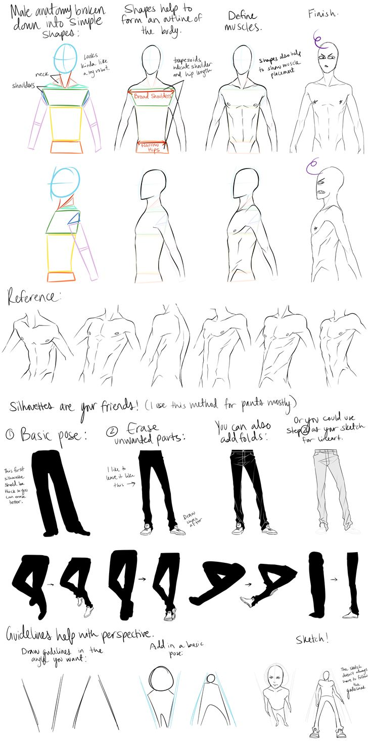 Male Anatomy Reference and Perspective Tips by DeviantTear.deviantart.com on @deviantART