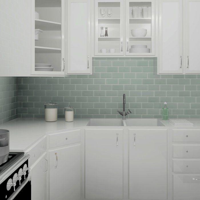 Light Blue Kitchen Wall Tiles: Best 25+ Glass Subway Tile Ideas On Pinterest