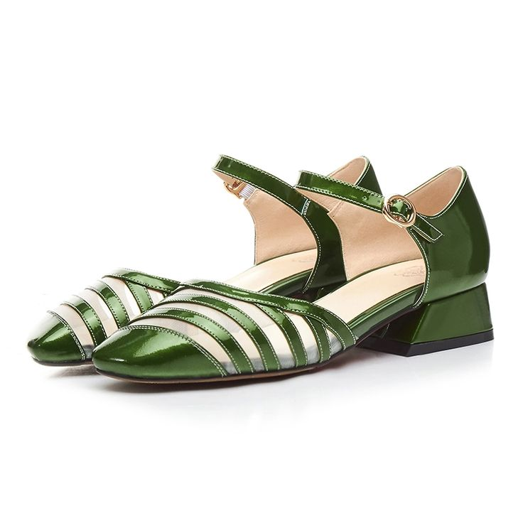 41.99$  Watch here - 2017 summer Fashion Women Shoes Mary Jane Round Toe Square heel Patent Leather Silver green Sexy fashion free shipping Buckle    #magazine