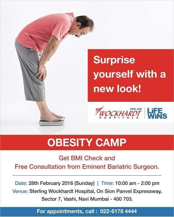 Obesity camp in Mumbai on 28th February: Surprise yourself with a new look. #healthandwellness #healthylife #weightloss