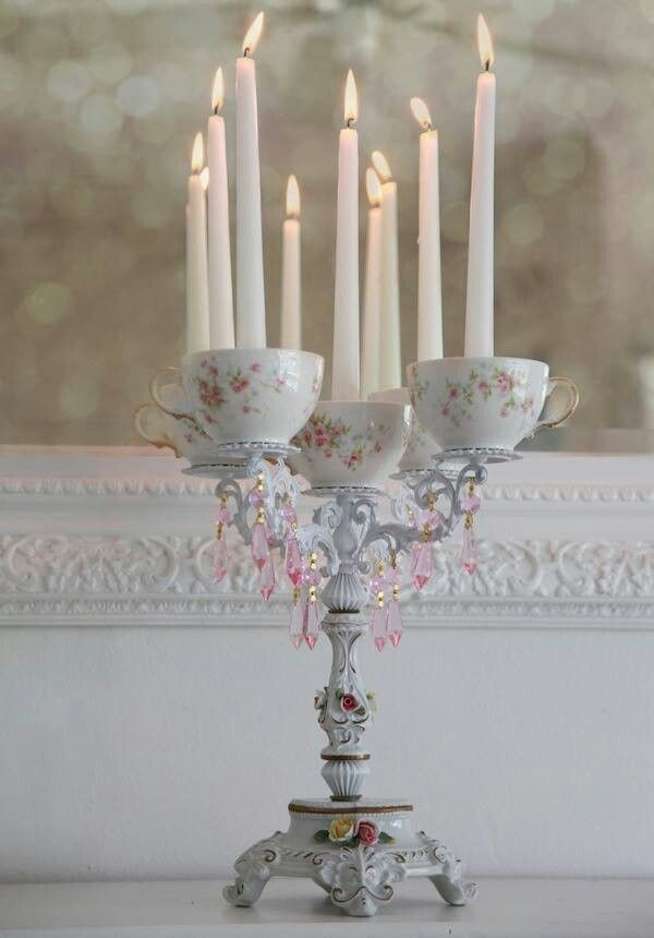#Alice In Wonderland Wedding #whimsical wedding teacup candelabra #wonderland wedding