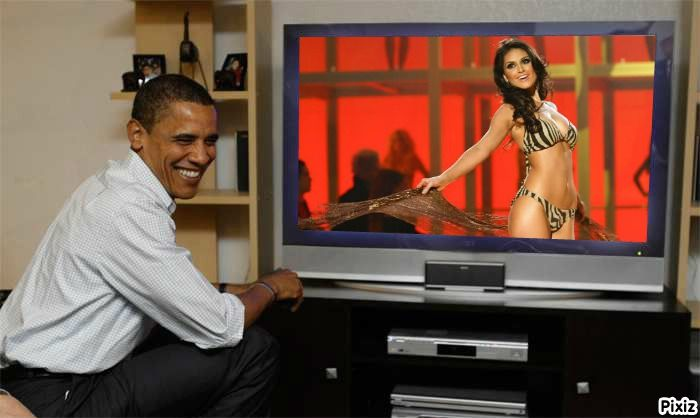 Natalia Guimaraes Miss Brasil 2007 en vivo Obama
