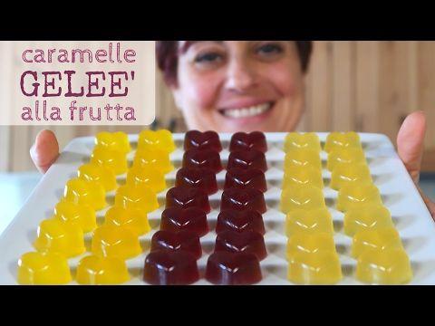caramelle gelee alla frutta fatte incasa con succo di frutta, morbide e colorate come quelle in commerico ma senza additivi e conservanti