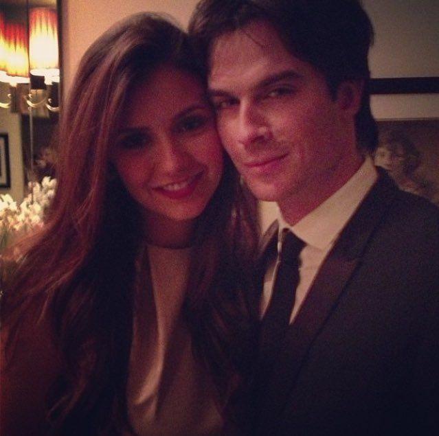 """ninadobrevadaily: """"New/Old photo of Nina Dobrev and Ian Somerhalder on Nina's birthday (January 9, 2013) """""""