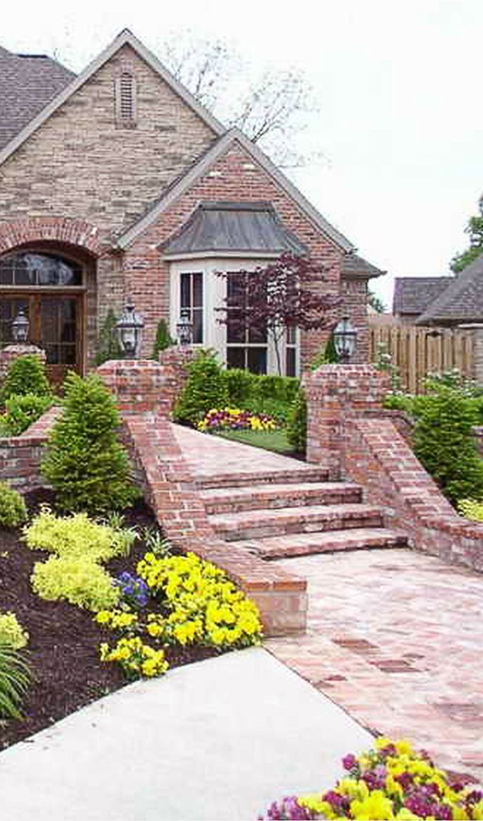 Red Brick House Landscaping Ideas Modern Landscape Design Front Yard Ranch House Landscaping Front House Landscaping