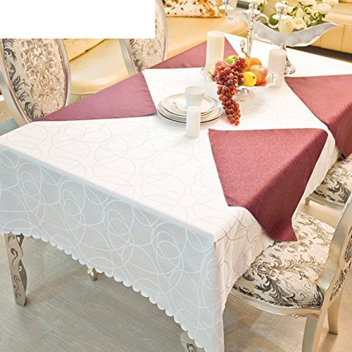 Jht Hotel Tablecloth Continental Restaurant Table Linen Rectangular Living Room Coffee Table Cloth Table Cloth C