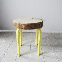 STOLIK/STOŁEK z plastra drewna, filtr
