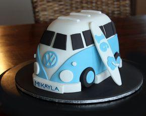 Paso a paso de la web para realizar una torta torneada recreando una combi. Fácil y adaptable a muchos temas (por ejemplo cambiando la decor...