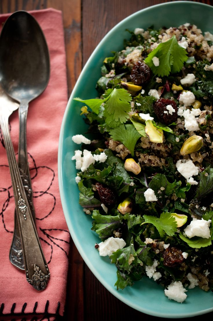 I've been meaning to make this salad for about a week now. I had all of the ingredients gathered (sort of), and then life took over, I got busy and the week passed. Thank goodness kale is a hearty ...