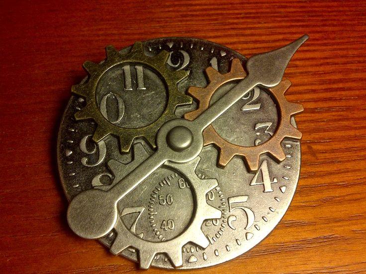 Steampunk Clock Badge by Salixer.deviantart.com on @DeviantArt