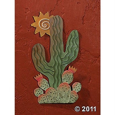 Cactus Sun Wall Art Metal Southwestern Style New