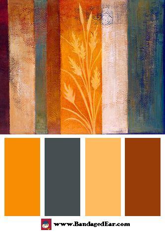 Orange Color Palette: Spice II, Art Print by Vivien Rhyan
