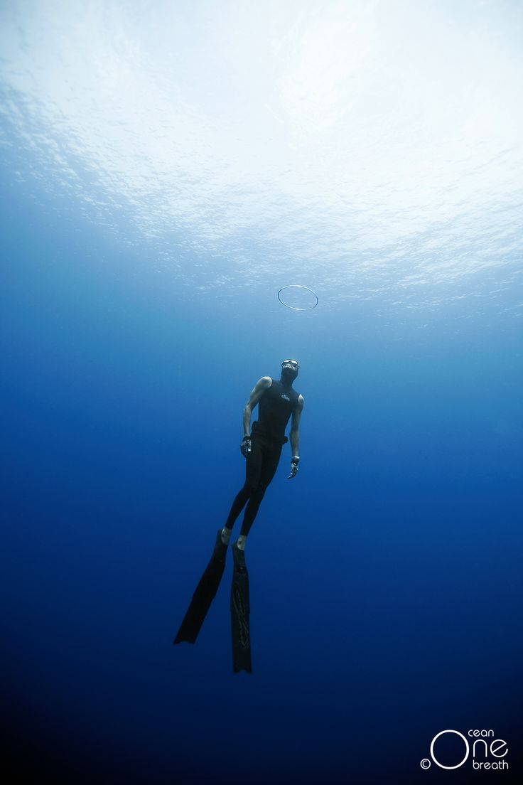 Another day ... another bubble ring  :-) Underwater freediving photography - Photo taken on one breath by Christina Saenz de Santamaria. #freediving #underwater #1ocean1breath #ocean #oneoceanonebreath