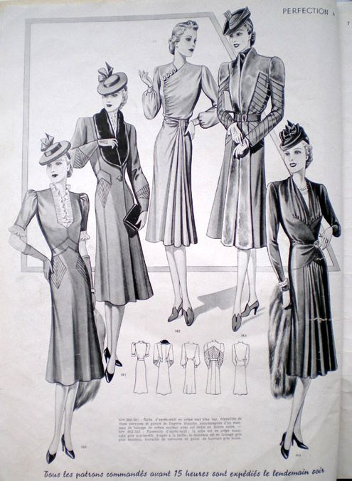 Very smart 1940 dress patterns. My Great Gran would have made these.