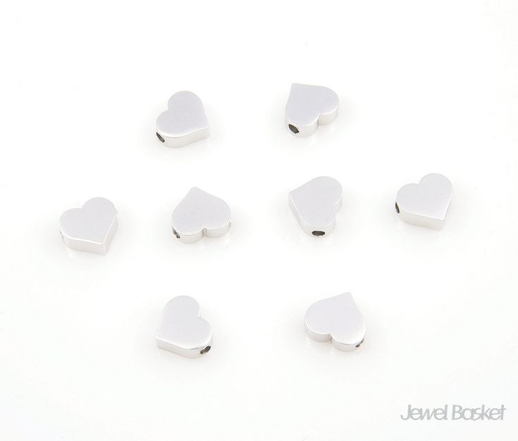 Excited to share the latest addition to my #etsy shop: Metallic Heart Bead - Matte Rhodium Heart Beads / 6mm x 7mm / PMS002-B (8pcs) http://etsy.me/2n1zVlz #supplies #white #jewelrymaking #lovefriendship #brass #silver #heart #silverheart #heartcharm