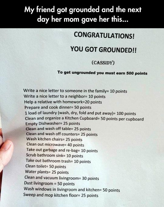 Creative Punishment  - This is utterly brilliant.