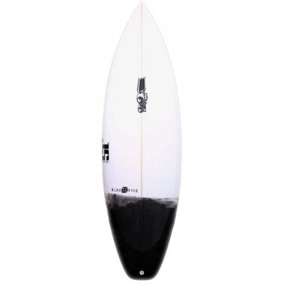 JS Industries Blak Box 2. A refinement of the much loved groveller. Wide planshape, boxy rails and low rocker = a forgiving, no-nonsense small wave jet-machine. £525 #JSIndustries #BlackBox2