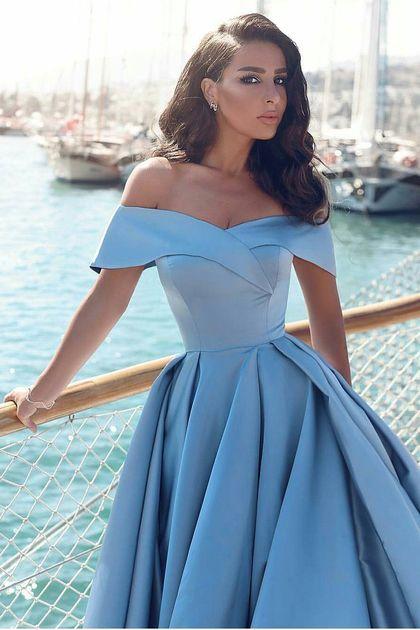 2017 una línea de los vestidos de baile de fin de curso de hombro satinado con hendidura US$ 149.99 VEPSEP7KYD - 2016Vestido.com for mobile