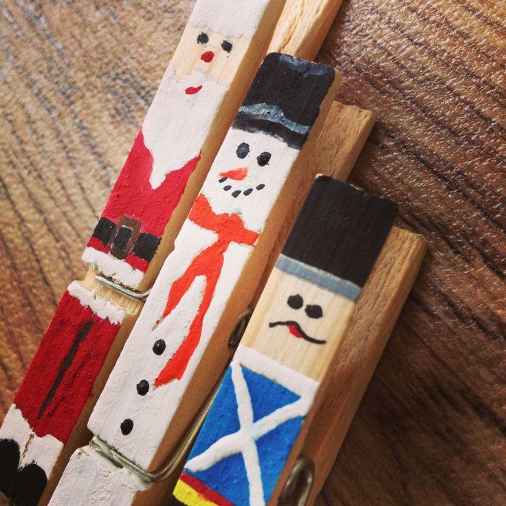 Christmas pegs