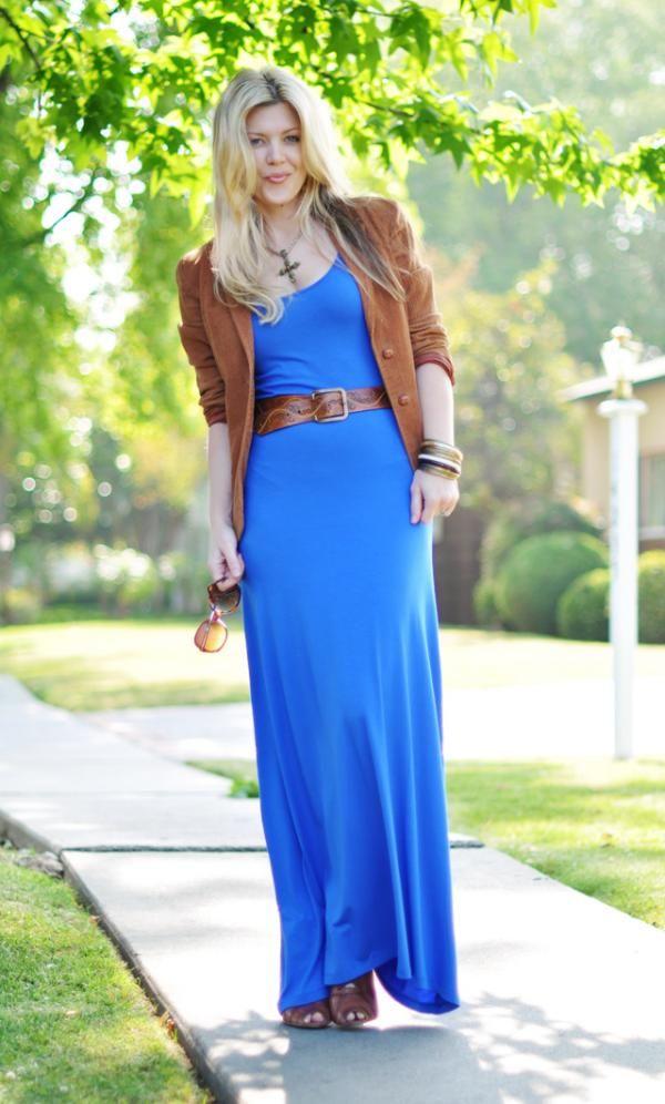 how to wear cobalt blue dress