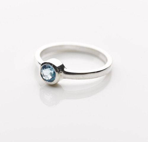 Sterling silver blue topaz ring, online jewellery gifts, presents