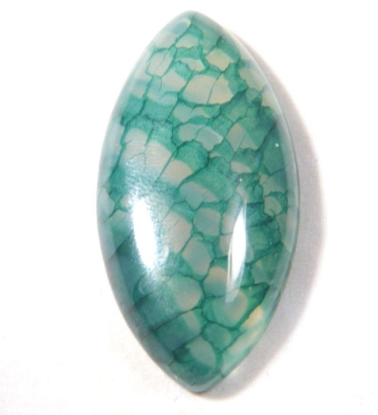 40.83Ct 40x20x7mm Green Dragon Vein Agate Cabochon Wire Wrapping/Jewelry Making #Unbranded