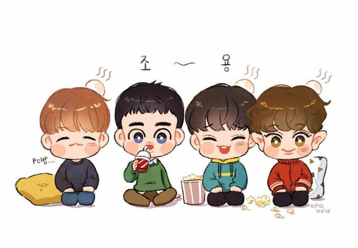 Fanart #EXO kyungsoo and beagles