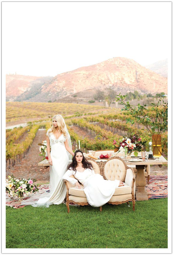 Uncategorized/outdoor vintage glam wedding rustic wedding chic - Art History For Brides Renaissance Inspired Rustic Vintage Winery Wedding Inspiration