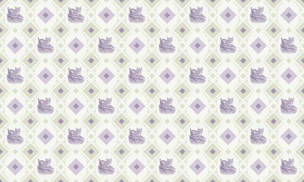 Young Lynx - Gooseframe - Green Purple - Fototapeter & Tapeter - Photowall Mulig fondvegg