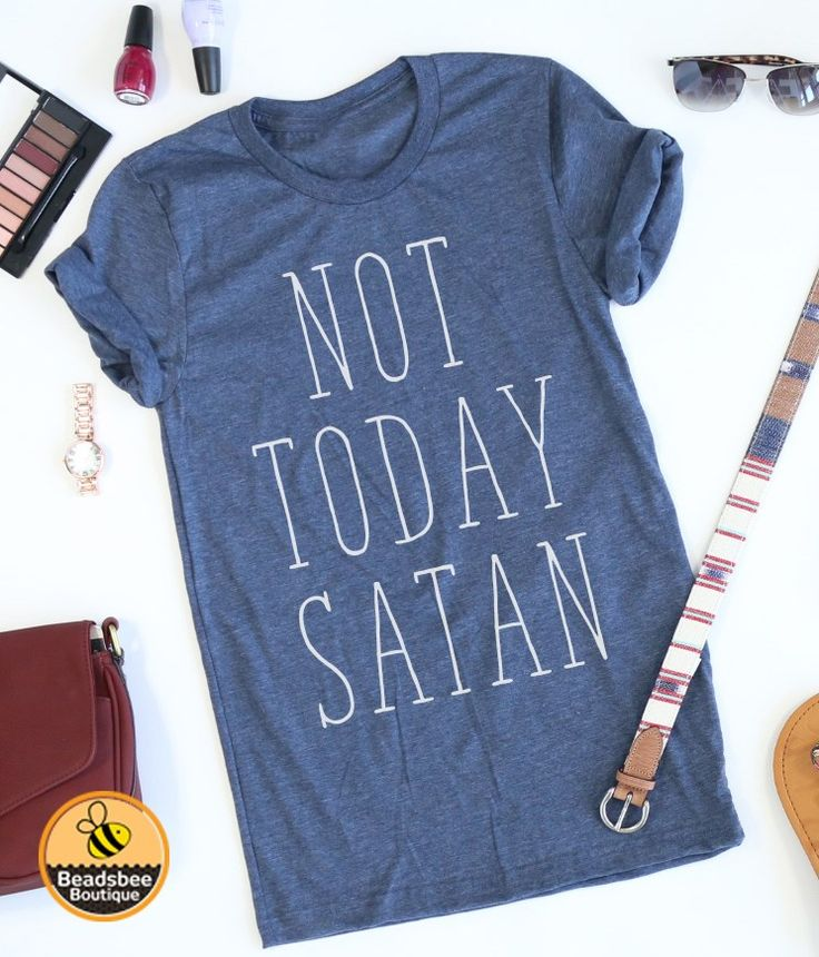 These trendy style tees are now in stock!  Our Not Today Satan tees are the perfect tee for lounging around, carpool, and even a night out!  With unisex sizing, they make the perfect gift!