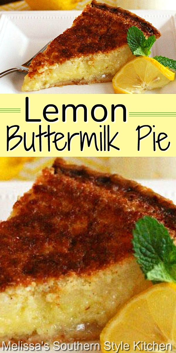 Lemon Buttermilk Pie In 2020 Lemon Dessert Recipes Buttermilk Pie Buttermilk Pie Recipe