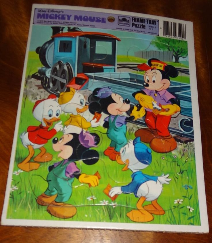 Mickey Mouse Train Tray Puzzle 1973 Children