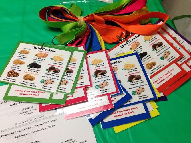 The PERFECT cookie resource is here! Printable cookie lanyards featuring cookie names, prices, and more are available for free on our website! **Click here for your free printable 2015 cookie lanyard set and scroll to the bottom of the page for word documents