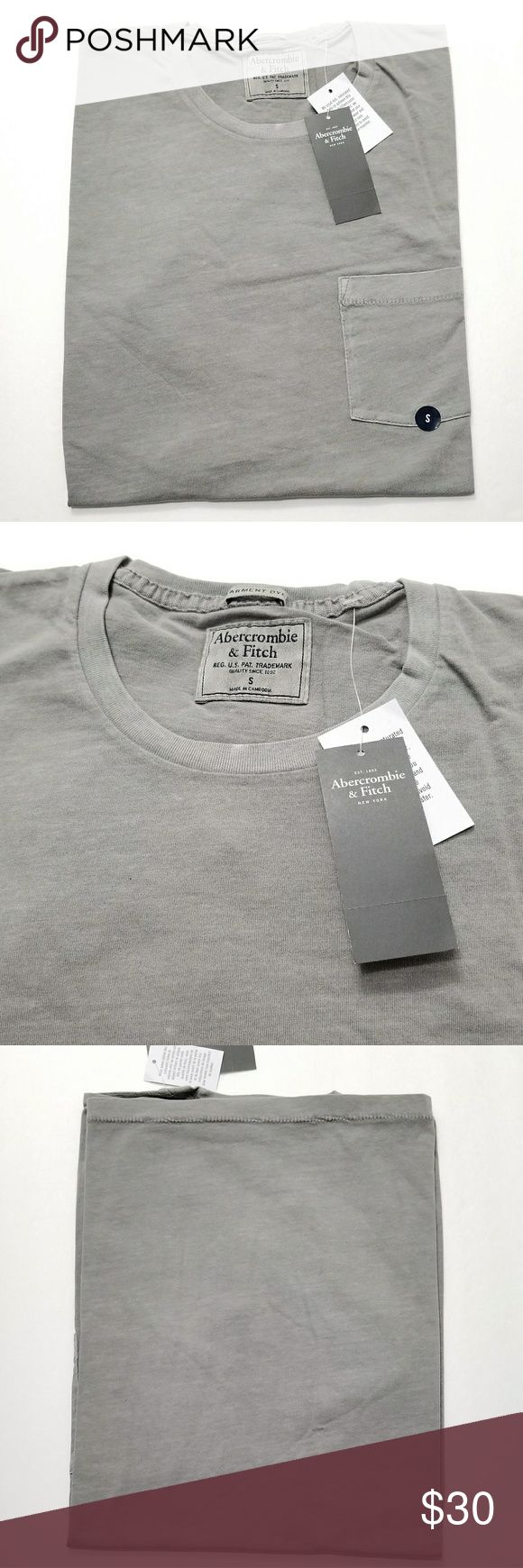 👕Abercrombie And Fitch Grey Classic T-shirt Perfect Valentine's Gift Brand New Grey Classic Mens T-shirt Size Small. No flaws All Sales Final. Raise Question Before Purchase. Please bundle or reasonable offer. Free random gift! Fast Shipping! Abercrombie & Fitch Shirts Tees - Short Sleeve