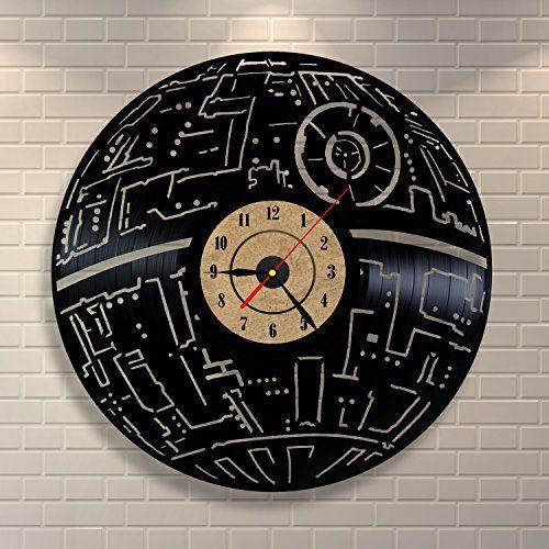 Death Star Wars Decor Vinyl Record Clock Home Design Room Art Vinyl Evolution http://www.amazon.com/dp/B01BU2X8CI/ref=cm_sw_r_pi_dp_Caz3wb10GCX8G