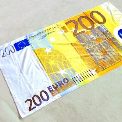Drap de plage billet 200 euros