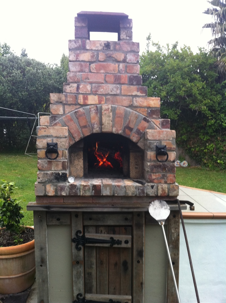 Casual wood fired pizza oven in the back yard. Thanks Dad.
