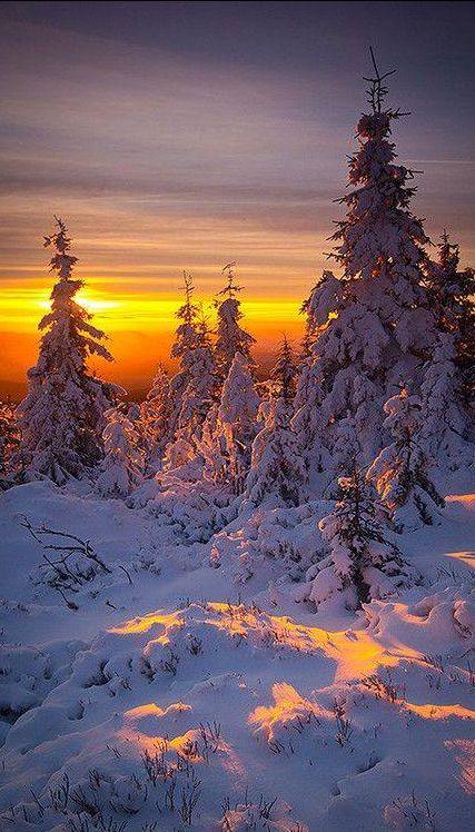 Sunrise in Karkonosze mountains, Poland , from Iryna