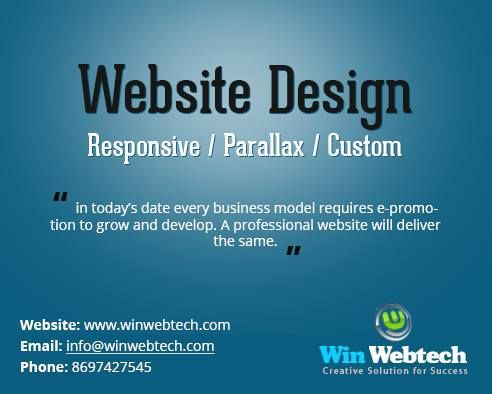Win Webtech, the best web designing company in Kolkata offers quality service at afordable price. Contact today and get our services.