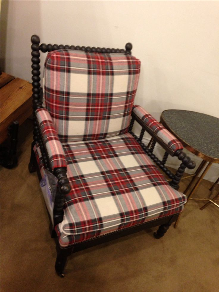 Plaid Chair Upholstered Pieces Pinterest Plaid