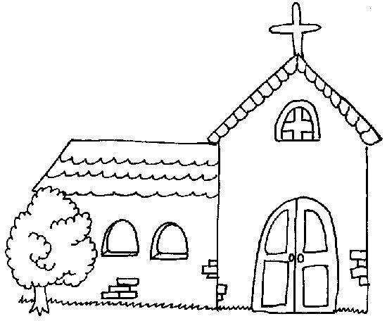 Biblekidseu Church Coloring Sunday School ColoringDrawings